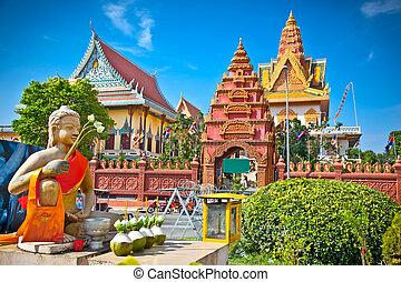 pagoda, cambodia., penh, ounalom, wat, phnom