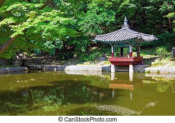 pagoda, changdeokgung, palacio