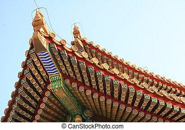 Pagoda detail in forbidden city