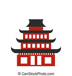 Pagoda flat icon