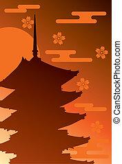 pagoda, historia, cinco