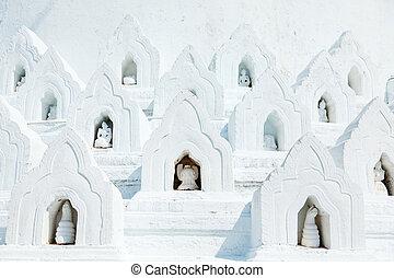 pagoda hsinbyume, dettaglio, mingun, myanmar