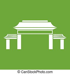 Pagoda icon green