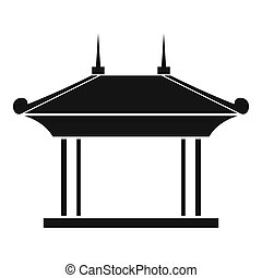 Pagoda icon, simple style - Pagoda icon. Simple illustration...