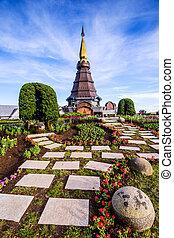 Pagoda in an Inthanon mountain, Doi Inthanon nation park, Thailan