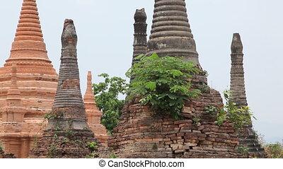 Pagoda in Samkar village, Myanmar