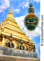 pagoda in temple of thailand