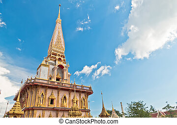 Pagoda in wat chalong or chalong temple