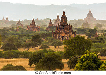 Pagoda landscape in Bagan
