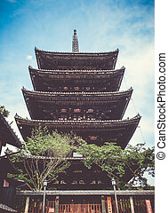 Pagoda of Yasaka, Gion, kyoto, Japan - Pagoda of Yasaka in ...