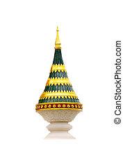 pagoda on white background