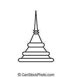 Pagoda outline icon