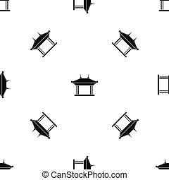 Pagoda pattern seamless black - Pagoda pattern repeat...