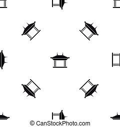 Pagoda pattern seamless black - Pagoda pattern repeat...