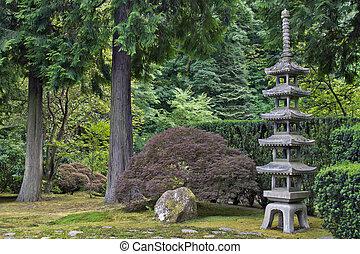pagoda, piedra, 2, japonés