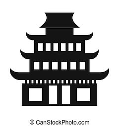 Pagoda simple icon