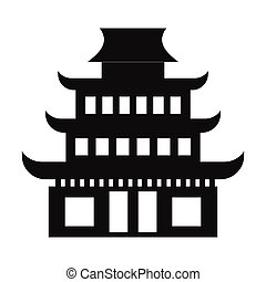 Pagoda simple icon isolated on white background