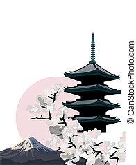 pagoda, tempel