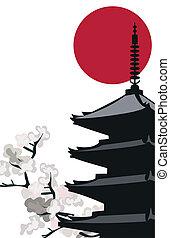 pagoda, templo