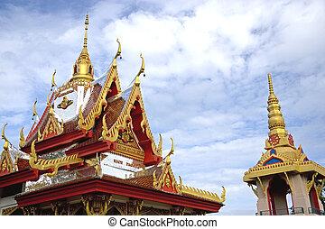 pagoda, wat, buppharam, arroz
