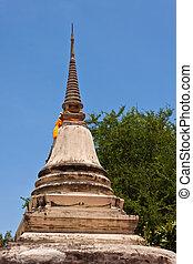 pagoda with blue sky
