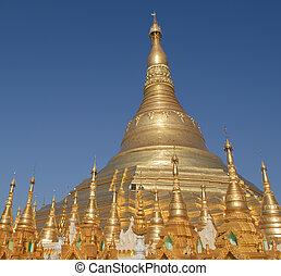 pagoda, yangon, shwedagon, myanmar
