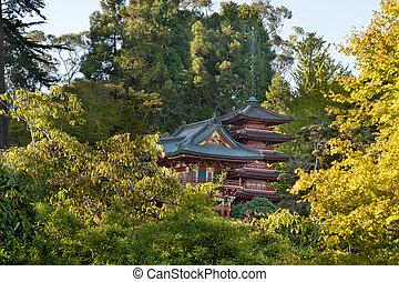 Pagodas in San Francisco Japanese Garden