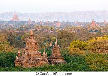 Pagodas in the Bagan plain