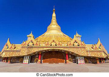 pagode, global, vipassana