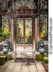 pagode, jardins japonais