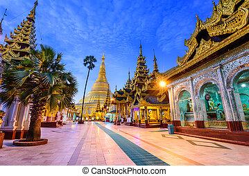 pagode, myanmar, schwedagon
