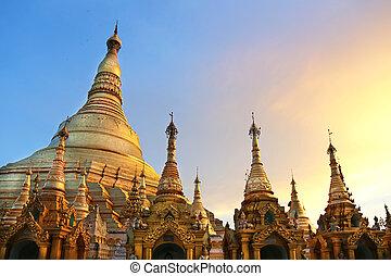 pagode, shwedagon, myanmar, yangon