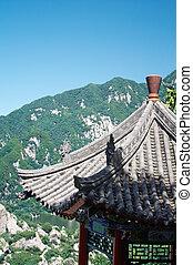 pagode, xi'an, china, montanha, cuihua