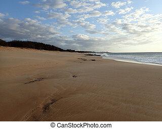 pahohaku, παραλία , λυκόφως
