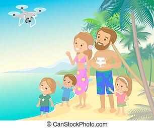 pai, apartamento, crianças, mãe, família, menino, foto,...