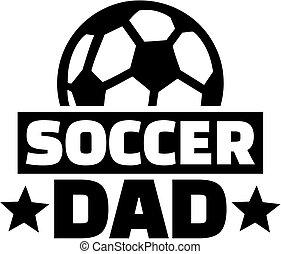 pai, bola futebol