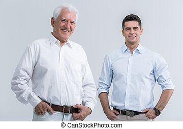 pai, com, adulto, filho