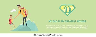 pai, conceito, illustration., mentor, meu, maior