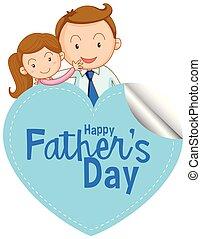 pai, dia, ícone