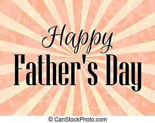 pai, festivo, cartaz, ilustração, day., vetorial, rays., feliz