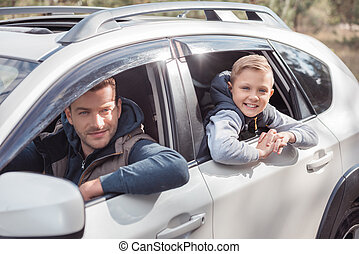 pai filho, carro