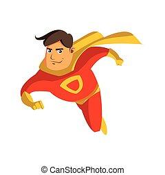 pai, herói super, caricatura