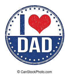 pai, selo, amor