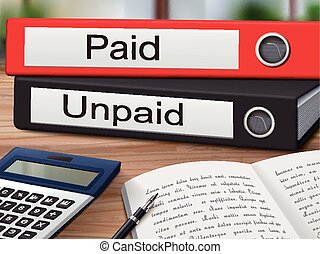 paid and unpaid binders
