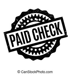 Paid Check rubber stamp