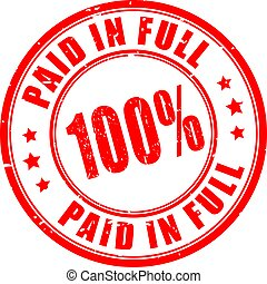 Paid in full rubber stamp