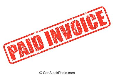 PAID INVOICE on stamp text