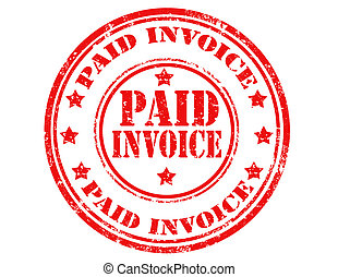 Paid invoice-stamp - Grunge rubber stamp with text Paid...