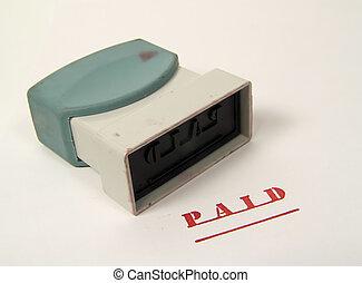 paid munten aan
