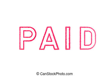 PAID' Red Stamp over white background.